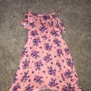 Cute Pink Ruffled Mini Dress